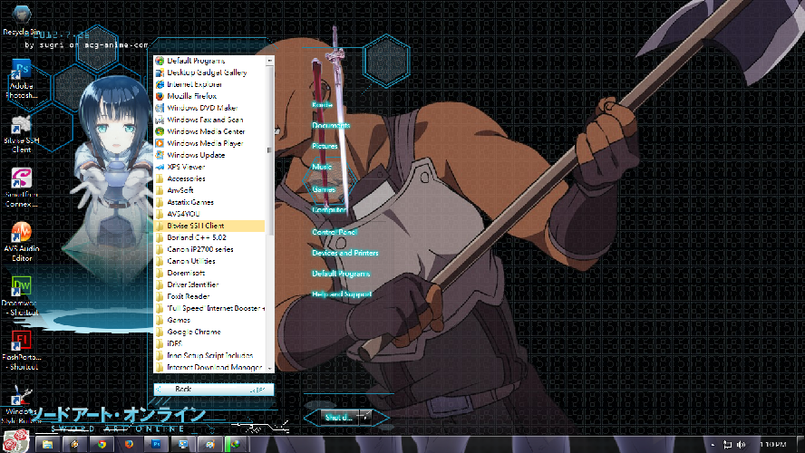 Sword Art Online [ Theme Win 7 ] 3