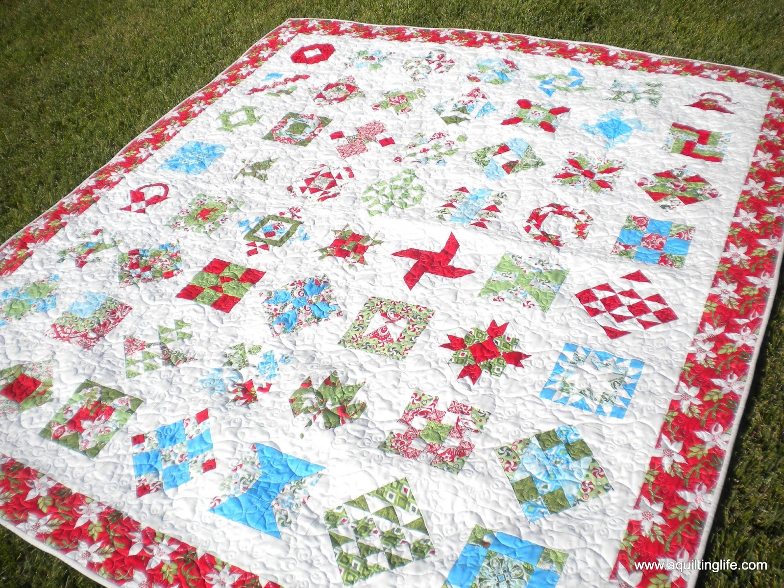 Simple My most recent Christmas quilt finish my Fig Tree red and green quilt isn ut quilted yet but it will be for next year for sure