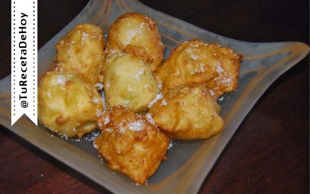 Receta fácil de buñuelos de manzana paso a paso