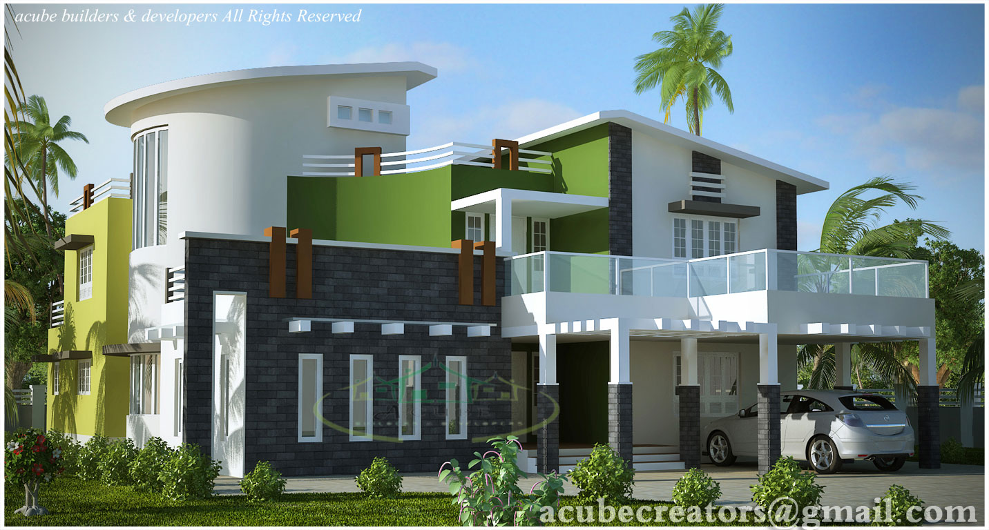 Modern contemporary villa - 5004 Sq.Ft. (Plan 131) title=