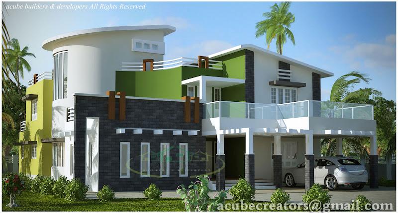 Modern contemporary villa - 5004 Sq.Ft. (Plan 131) title=
