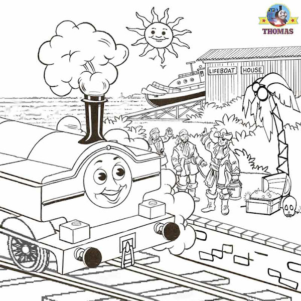 Thomas and Friends Duck Coloring Pages