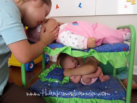 doll bunkbed
