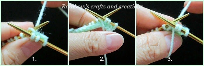Rainbows Crafts And Creations How To Knit The Double Loop Stitch