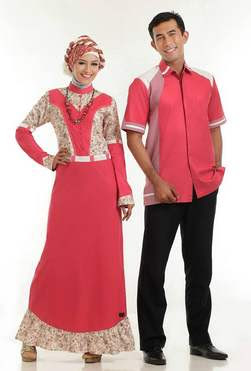 Contoh Gambar Desain Baju Muslim Sarimbit Elegan untuk Lebaran