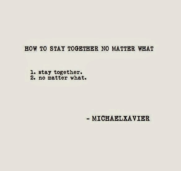 How to stay together no matter what image quote