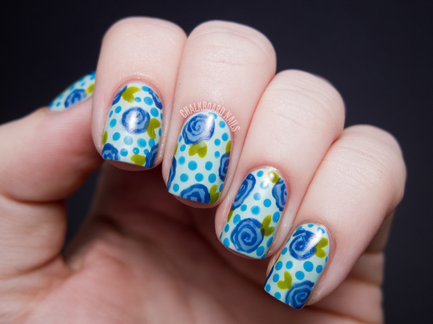 In A Random Coincidence, Nory From Fierce Makeup And Nails Posted A Floral  Print This Morning That Looks Pretty Similar! I Know That We Both Did Them  ...