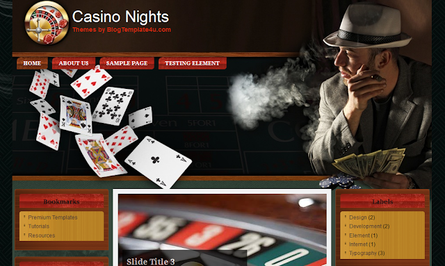 Gambling Theme Blogger Template