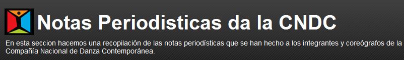 Notas Periodisticas da la CNDC