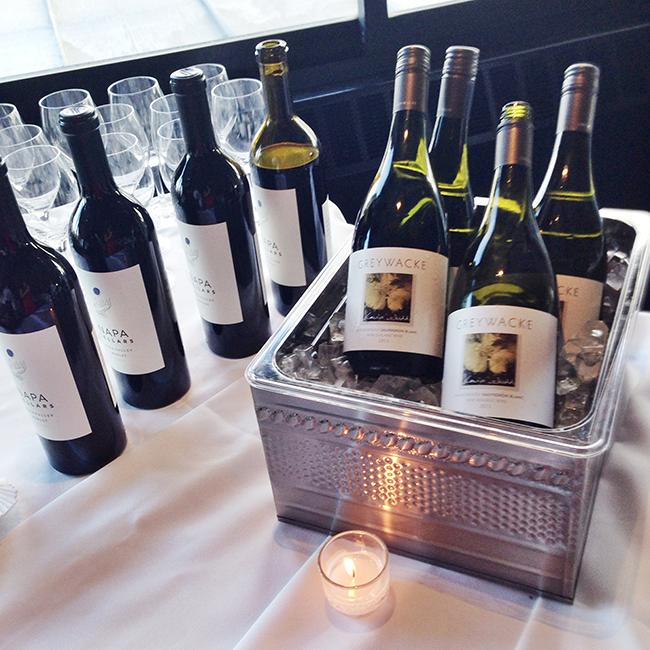 wine event setup