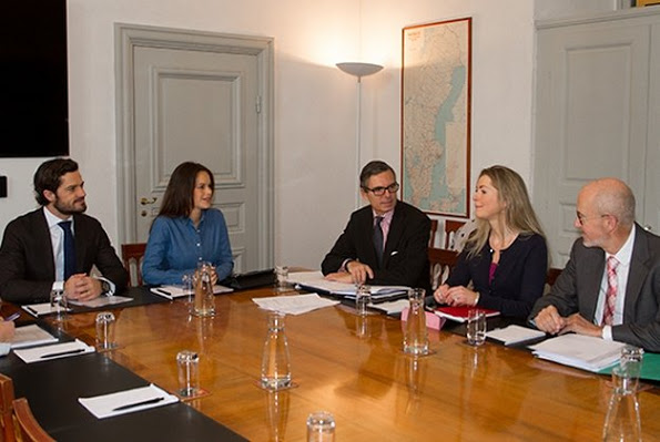 Princess Sofia And Prince Carl Philip Attended A Meeting At The Royal Palace