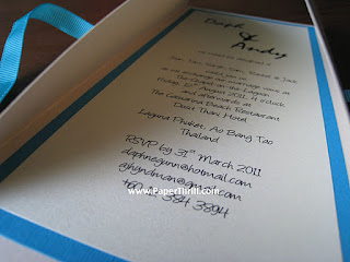 Beach themed Gate fold handmade invitation