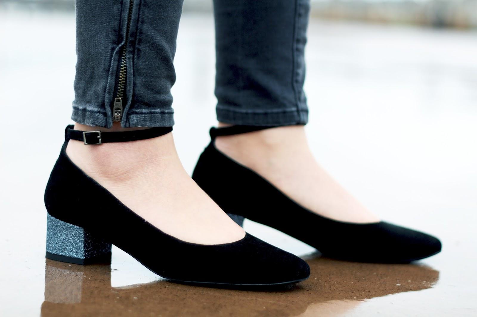 chaussures talons paillettes