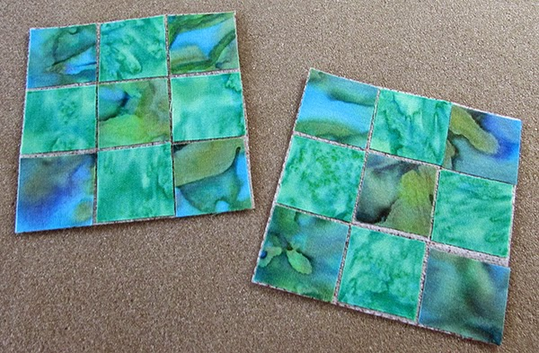 mini 9-patch quilt blocks