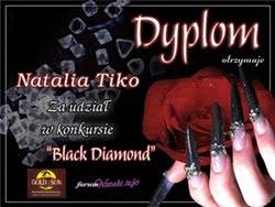 Dyplom za udział w konkursie ''Blacka Diamond''