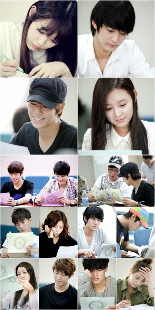 "[PICTURE] Sulli and Minho Reading Script ""To The Beautiful You"""
