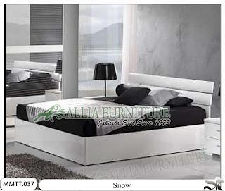Tempat tidur modern minimalis model snow 160 x 200