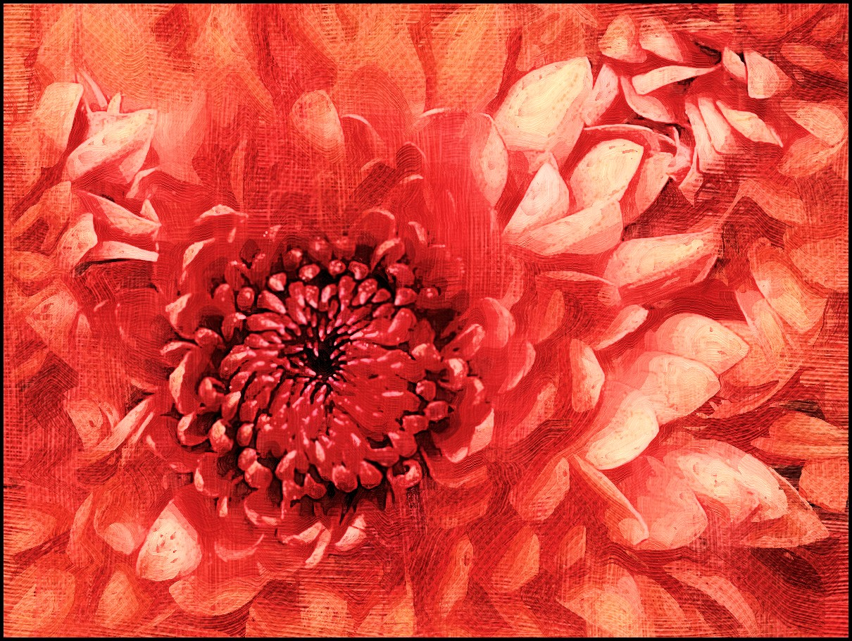 All This Is That: Painting: Chrysanthemum (Digital art)