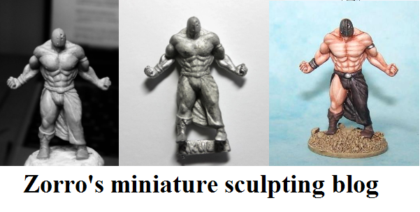Zorro's miniature sculpting blog