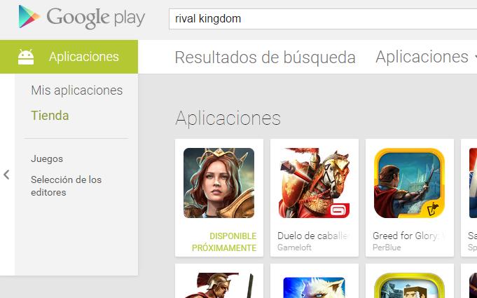 Registro Previo en Google Play