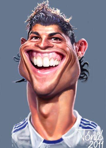 Foto Karikatur Lucu Christiano Ronaldo Real Madrid