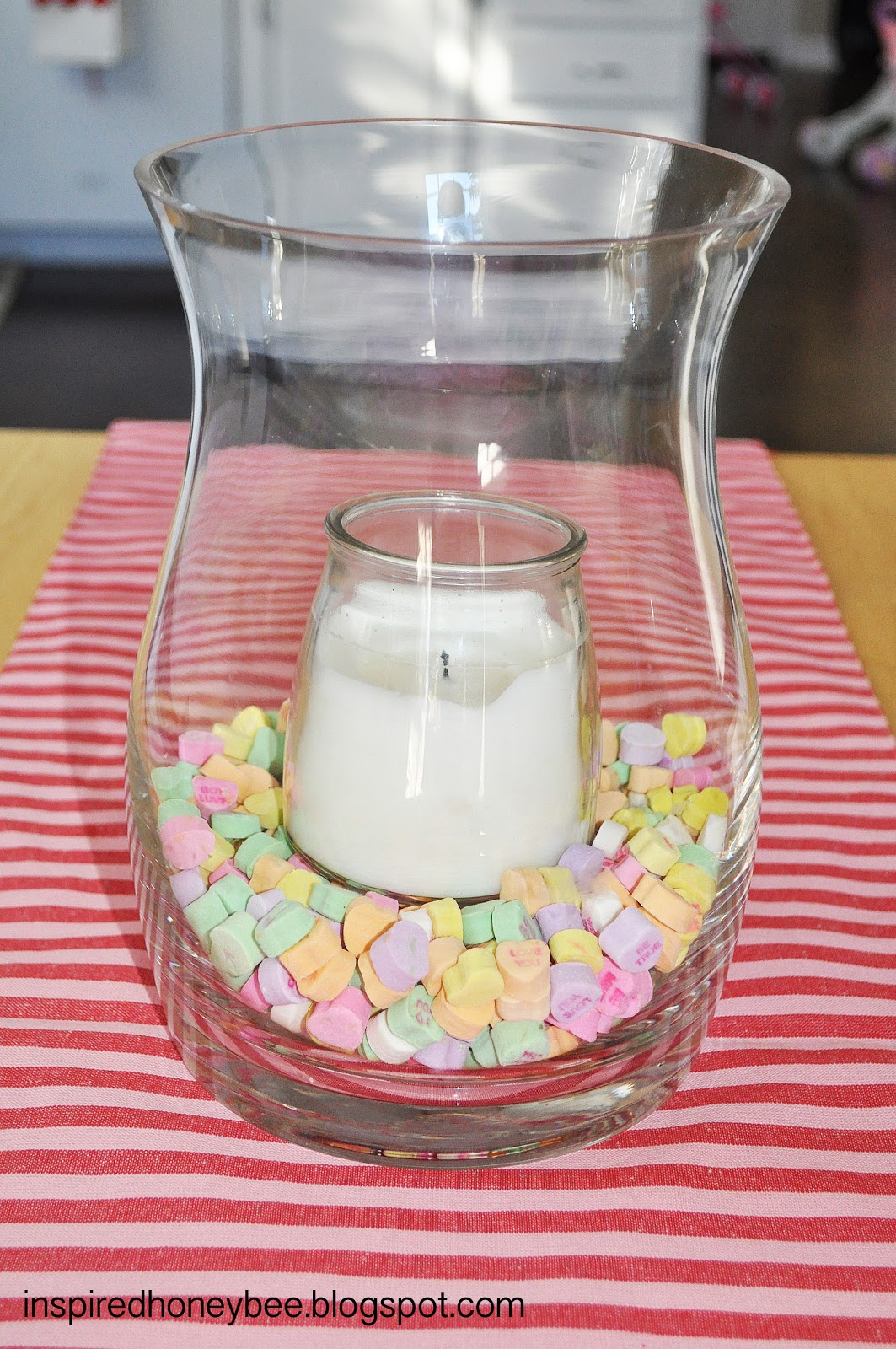 Inspired honey bee craft valentines day projects for a weekend conversation heart vase filler so easy and cute got the idea from pinterest but couldnt find an original source link reviewsmspy