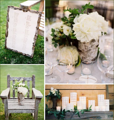 Mix and Match Centerpieces Using smaller different sized vases with