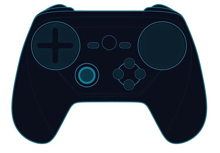 Suposto design conceitual do novo Steam Controller