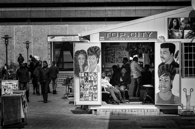 A hair salon adjacent to the main Cape Town taxi Rank