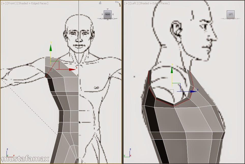 1-تصميم واكساء وتحريك شخصية في 3d max 2015