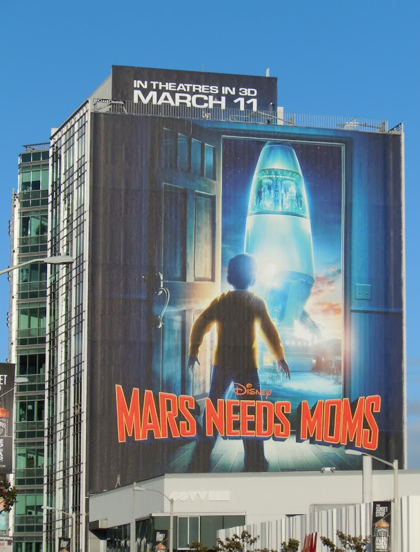 Disney Mars Needs Moms movie billboard