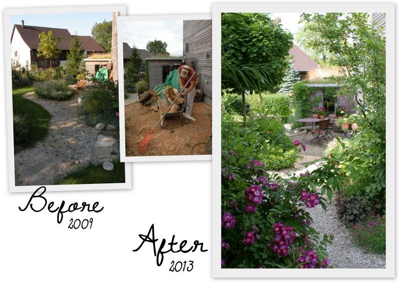 Ein schweizer garten vorher nachher for Gartengestaltung cottage