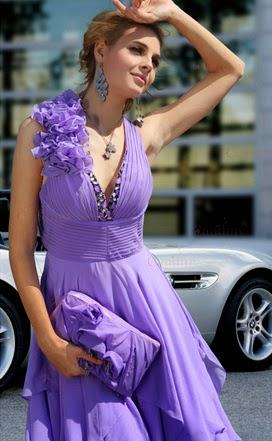 Vestidos de Fiesta, Bodas, Púrpura