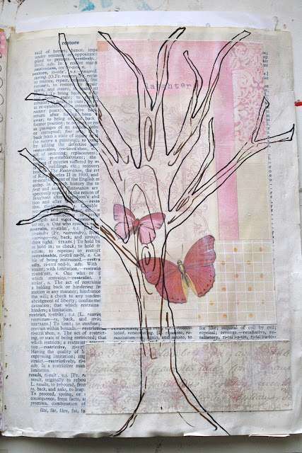 recycled magazine art journal