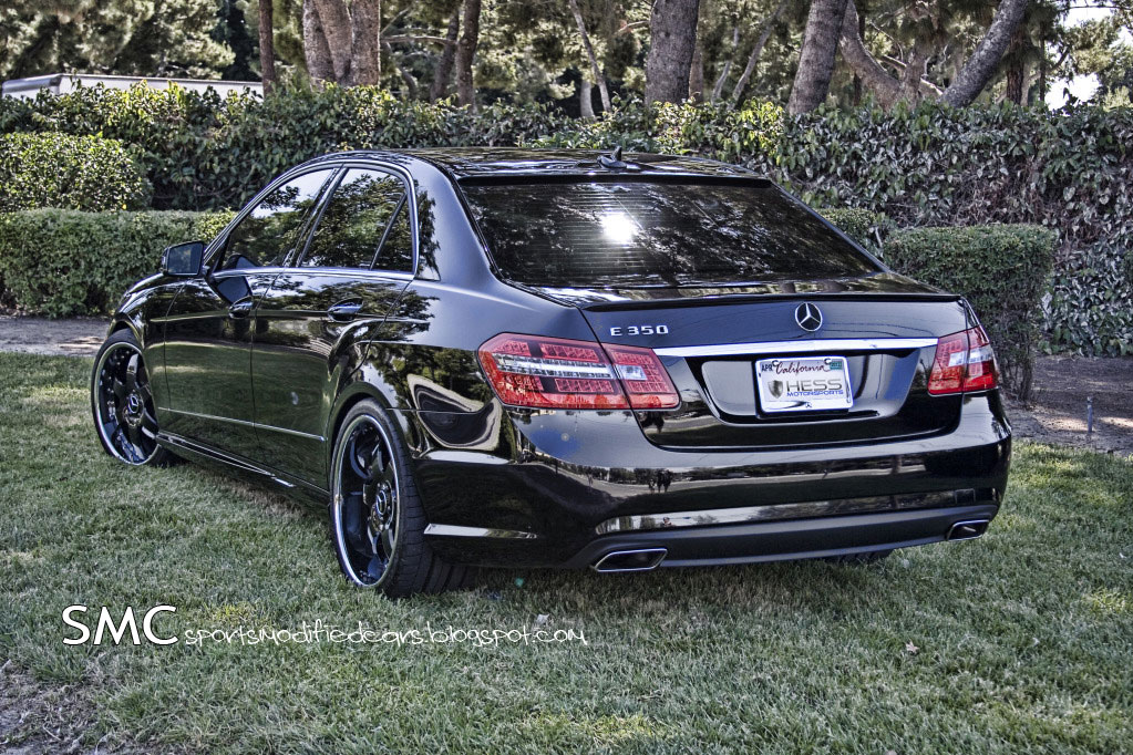 Mercedes benz e350 gets eye candy treatment from hess for Mercedes benz e350 black