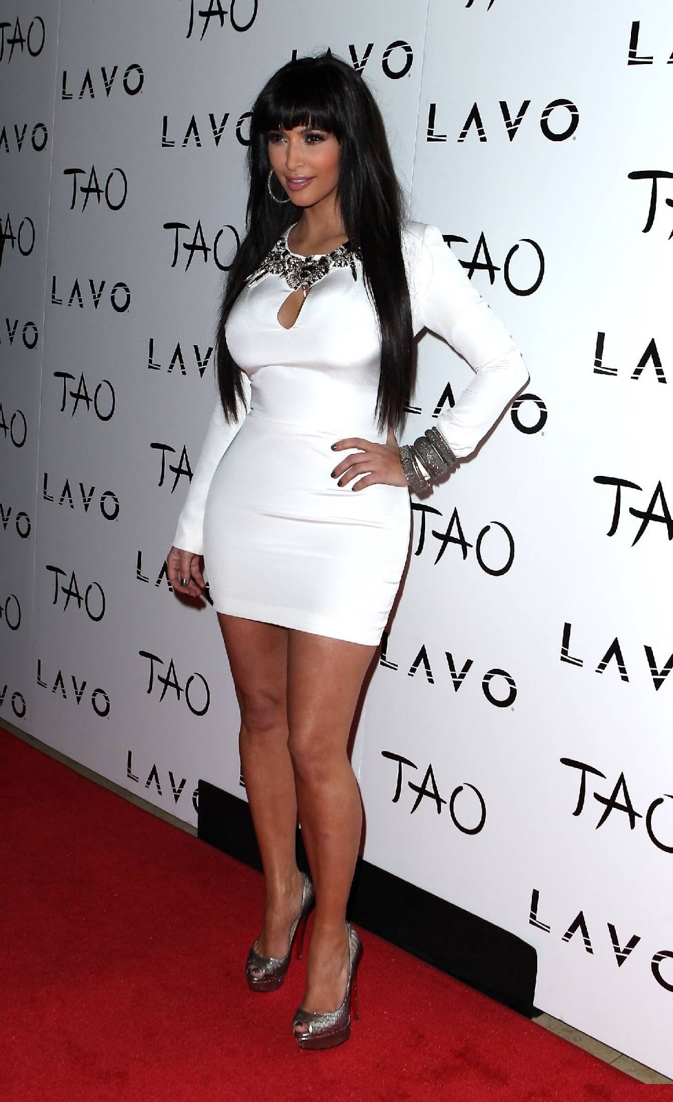 Kim Kardashian Parties in Las Vegas
