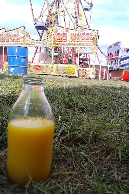 Orange juice pint