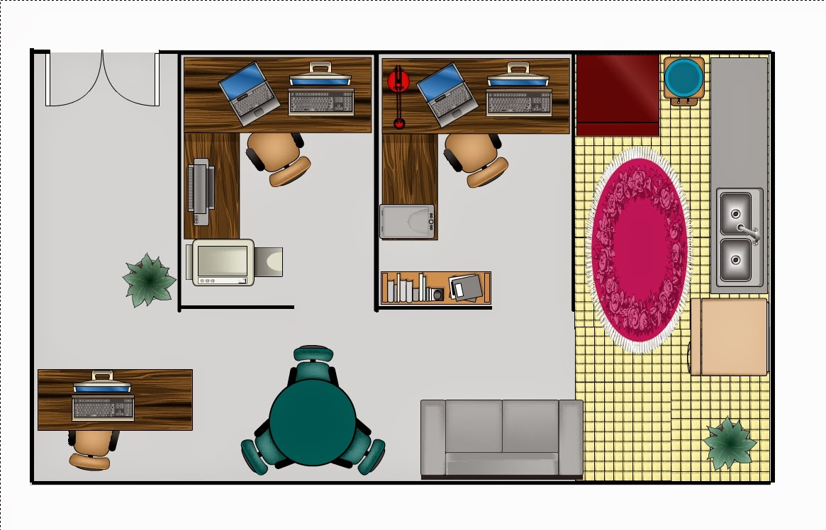 Foundation dezin decor simple office layout for Office desk layout