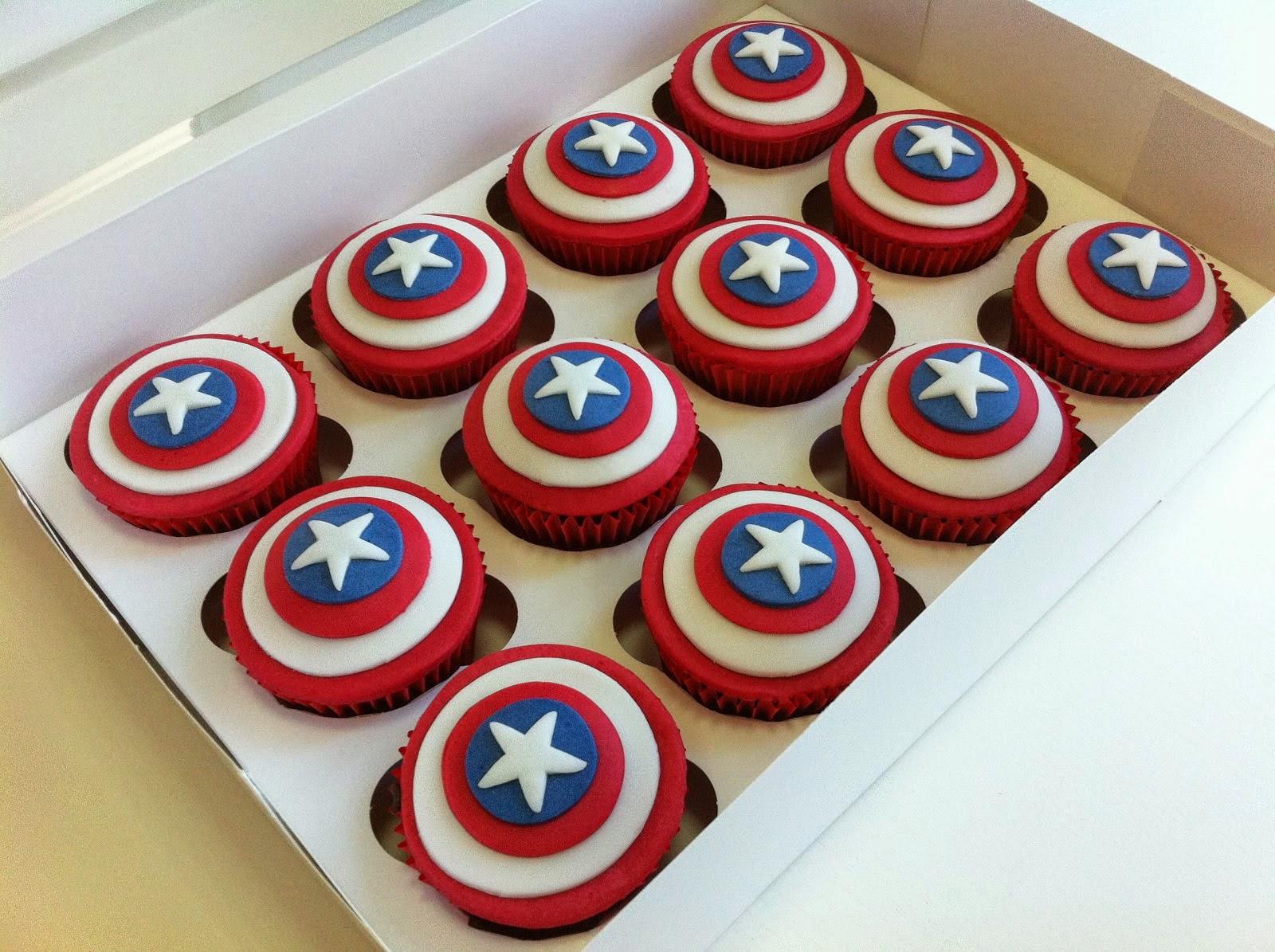 Cupcakes Capitan America, parte 1
