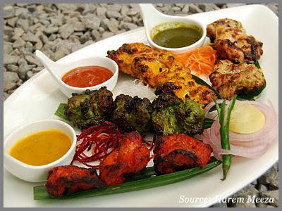 Chicken tikka at harem meeza Delhi