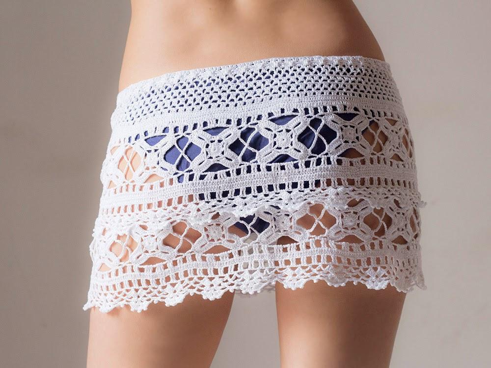 Katrinshine Cute Beach Crochet Skirt