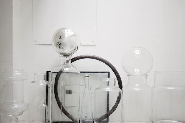 juego botellas de cristal