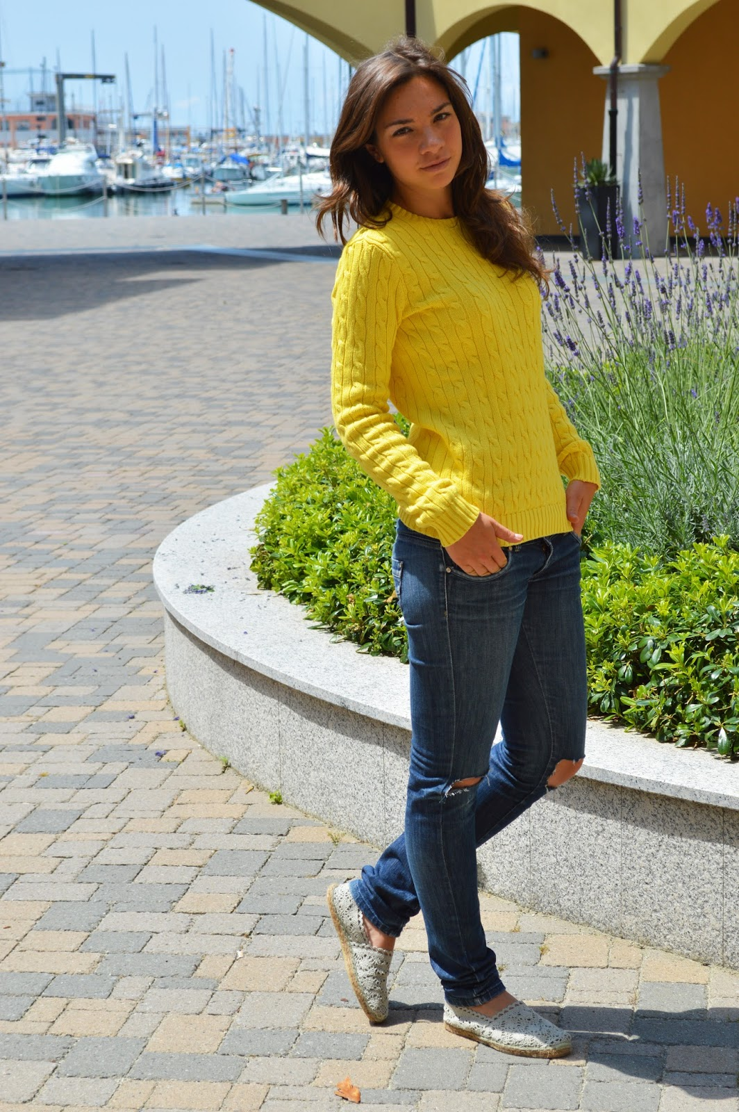 yellow casual outfit