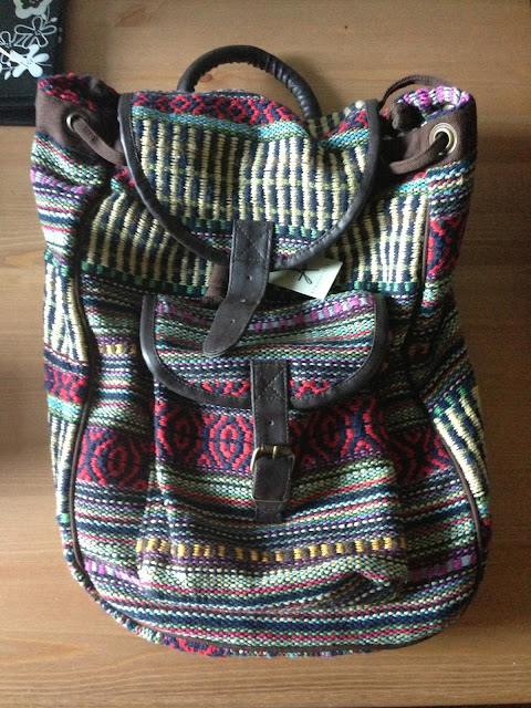 aztec back pack from primark