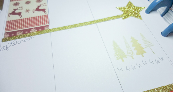christmas planner decoration