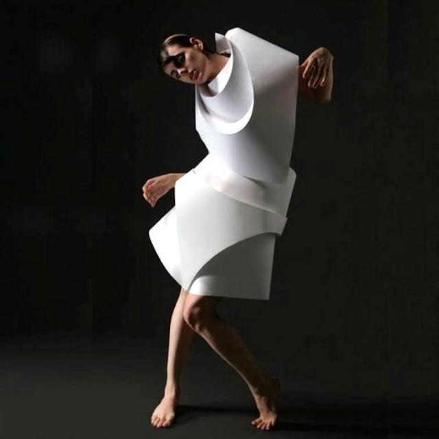 Alexandra Zaharova | Paper fashion dresses | Futuristic style