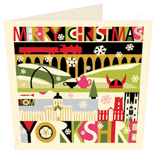 Christmas Card Yorkshire North City Scape by Wotmalike