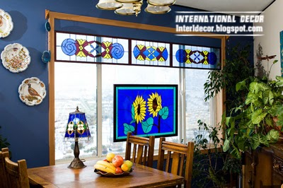 stained glass window for dining room interior