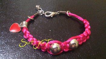 pulsera macrame rosa susana