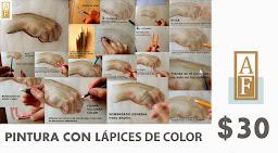PINTURA CON LÁPICES DE COLOR